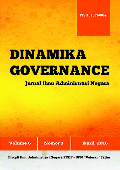 Jurnal Dinamika Governance Vol.6/No.1